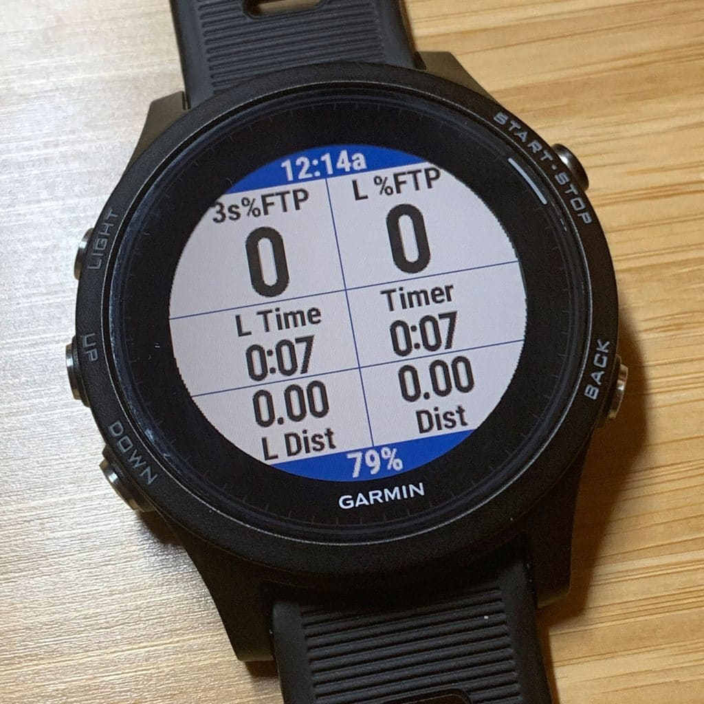 Run Power data screen on a Garmin 935