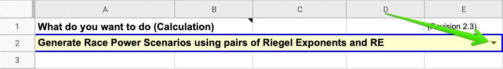 Generate Race Power Scenarios using pairs of Riegel Exponents and RE - SuperPower Calculator